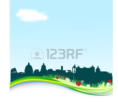 1,589 Spring Skyline Stock Vector Illustration And Royalty Free.