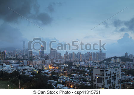 Stock Photos of Checker board Hill view of kowloon 2016.