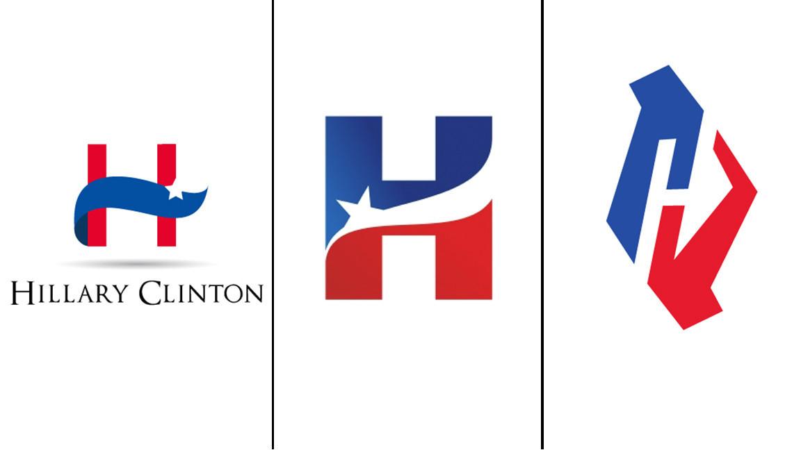Hillary Clinton\'s campaign logo: arrow to the heart of.