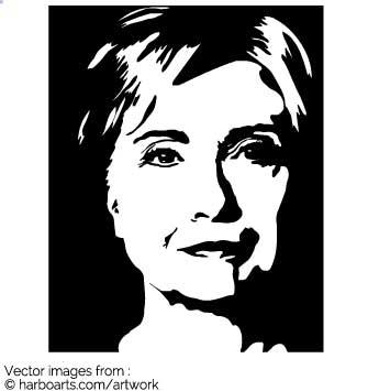Download : Hillary Clinton Stencil.