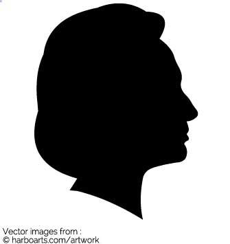 Download : Hillary Clinton Profile Silhouette.