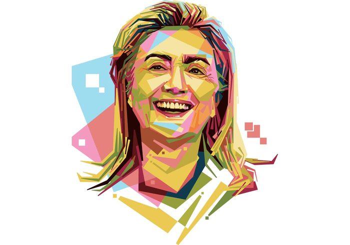 Free Hilary Clinton Vector Portrait.