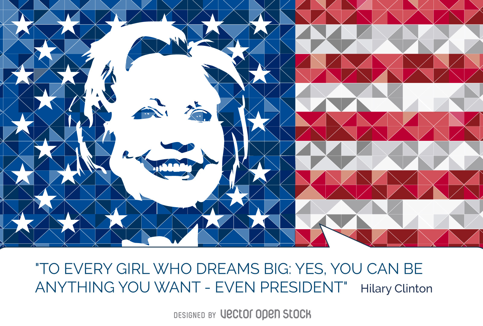 Hillary Clinton quote US flag.