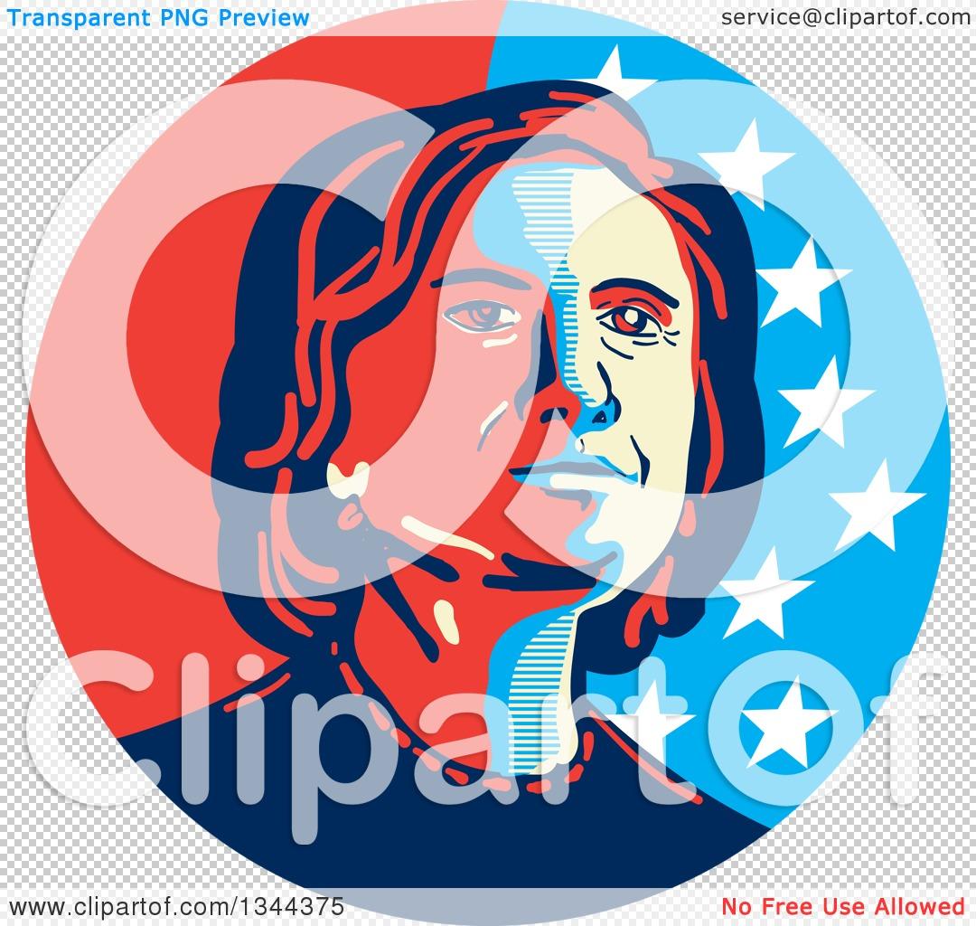 Clipart of a Hillary Clinton Stencil Portrait.