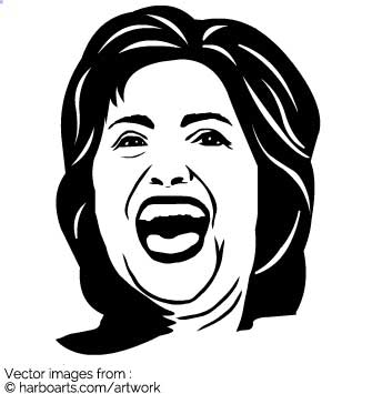 Download : Hillary Clinton Face.