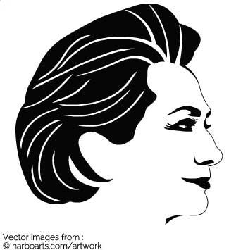 Download : Hillary Clinton 2016 Stencil.