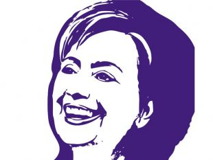 Hillary Clinton Election Candidate Free Vector.