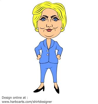 Download : Hillary Clinton cartoon lady.