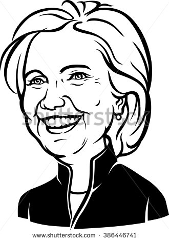 Showing post & media for Hillary clinton black and white cartoon.