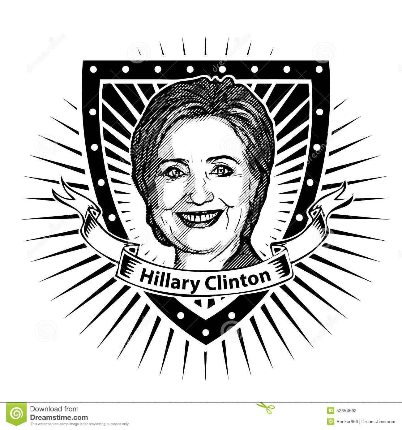 Hillary Clinton Stock Illustrations.