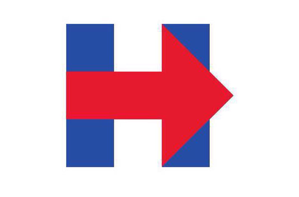 The great Hillary Clinton campaign logo controversy.