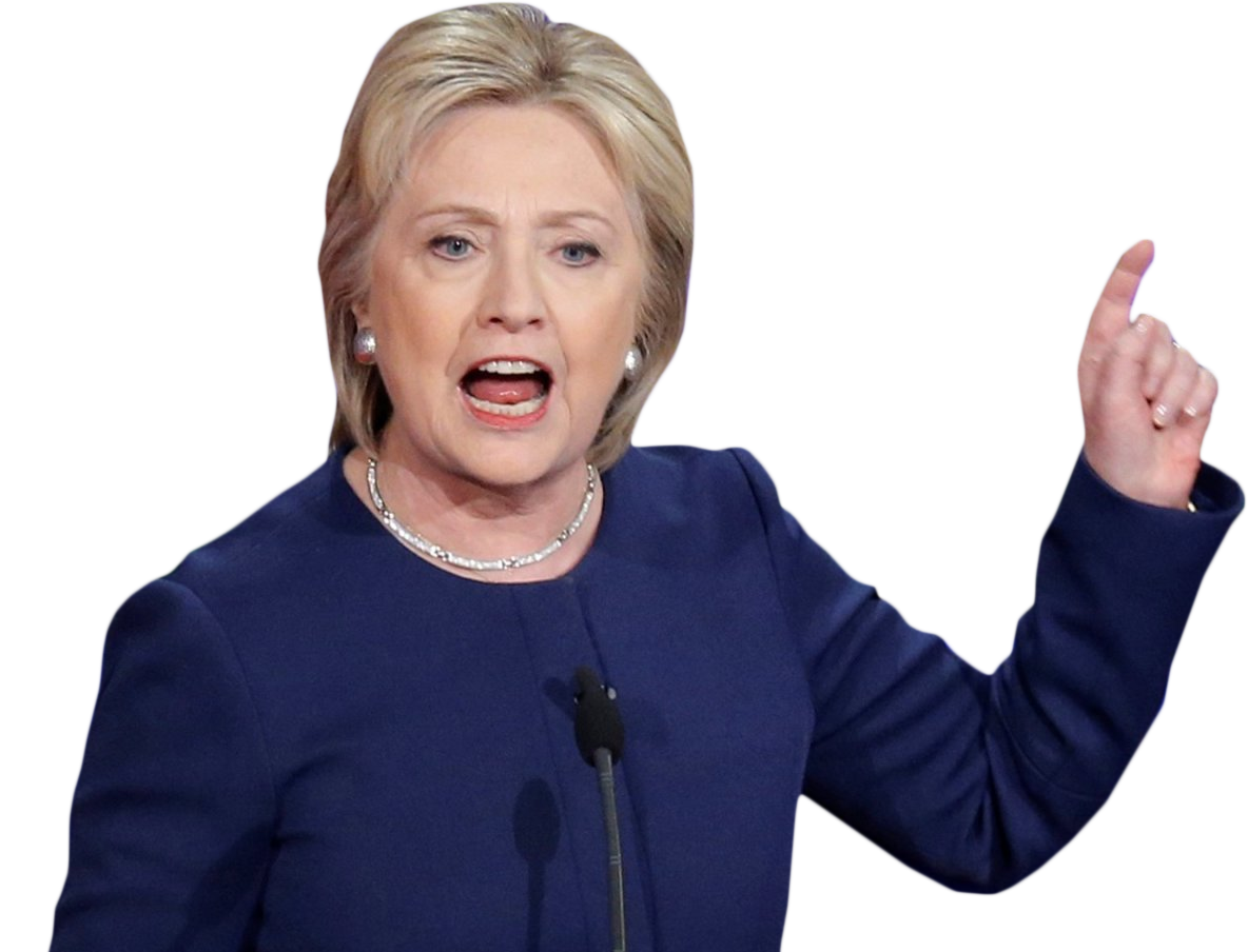 Hillary Clinton PNG Image.