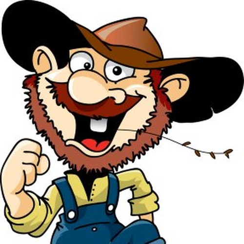 Hillbilly clipart straw mouth, Hillbilly straw mouth.