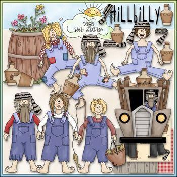 Hillbilly Family Clip Art.