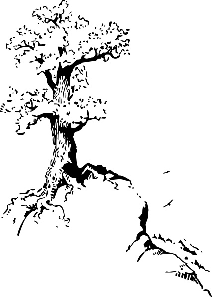 Tree On Top Of Hill clip art Free vector in Open office drawing.
