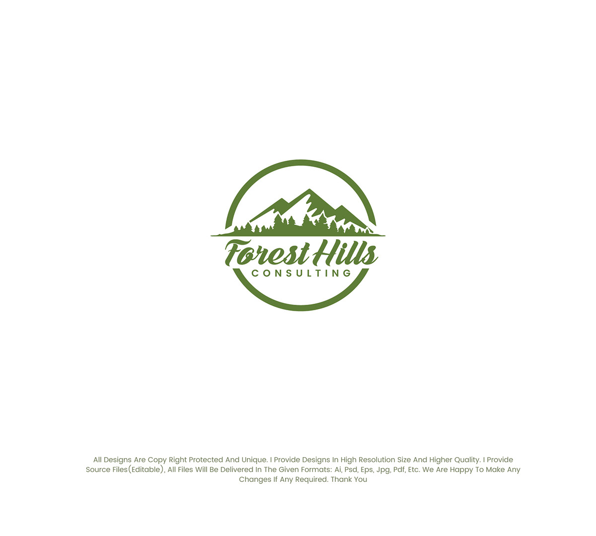 Forest Hills Logo Design and Branding on Wacom Gallery.