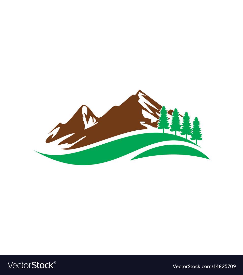 Mountain hill travel nature logo.