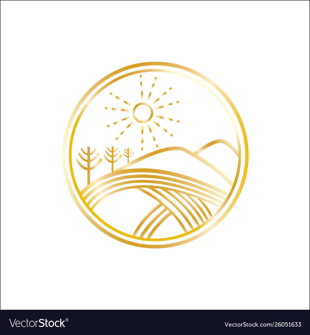 Golden hills logo.