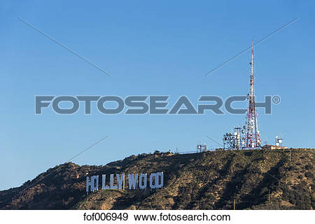Stock Photograph of USA, California, Los Angeles, Hollywood Hills.