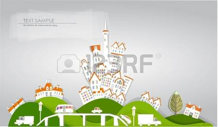 City upon a hill clipart.