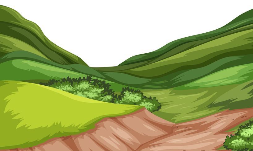 Nature hill landscape vector.