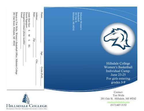 Hillsdale College Women\'s Basketball Individual Camp: June.