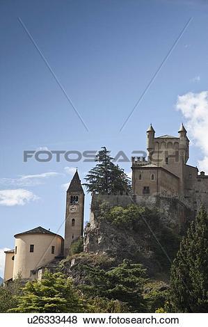 Pictures of Castle built on rural hillside u26333448.