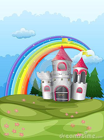 Castle Hillside Stock Illustrations.