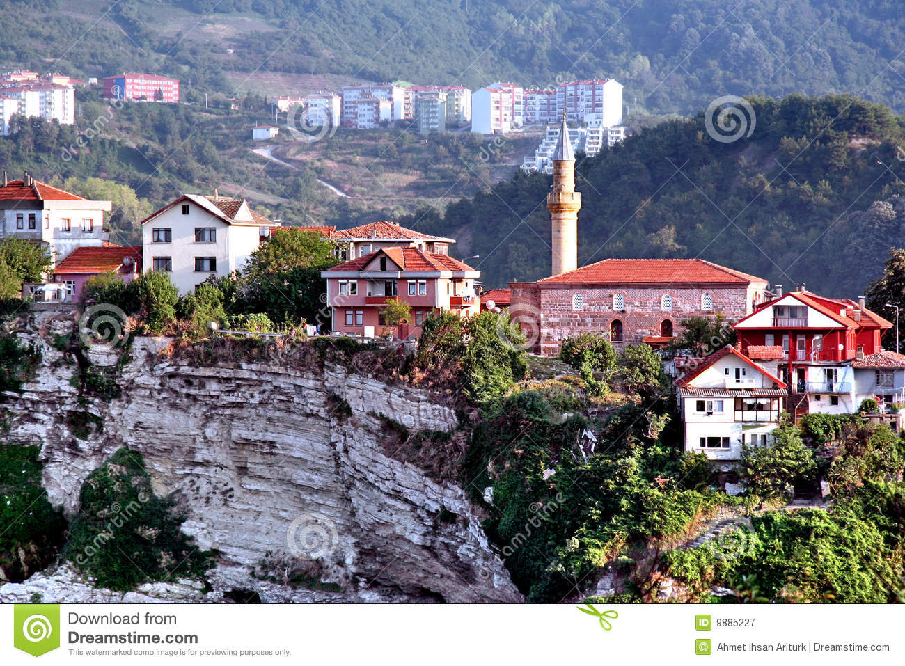 Amasra Hillside View Royalty Free Stock Photography.