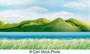 A beautiful hillside view Illustrations and Clip Art. 16 A.
