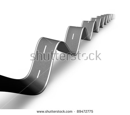 Bumpy Road Stock Images, Royalty.