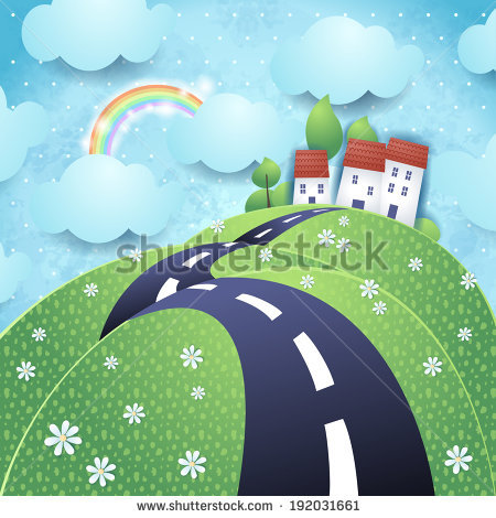Hilly Road Stock Images, Royalty.