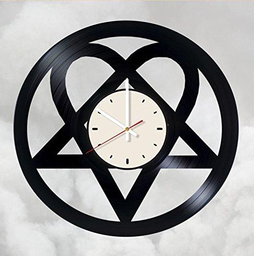 Amazon.com: H.I.M. rock band logo vinyl wall clock.