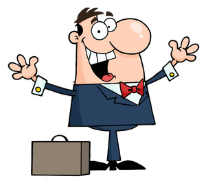 Businessman Cartoon Clipart Image.