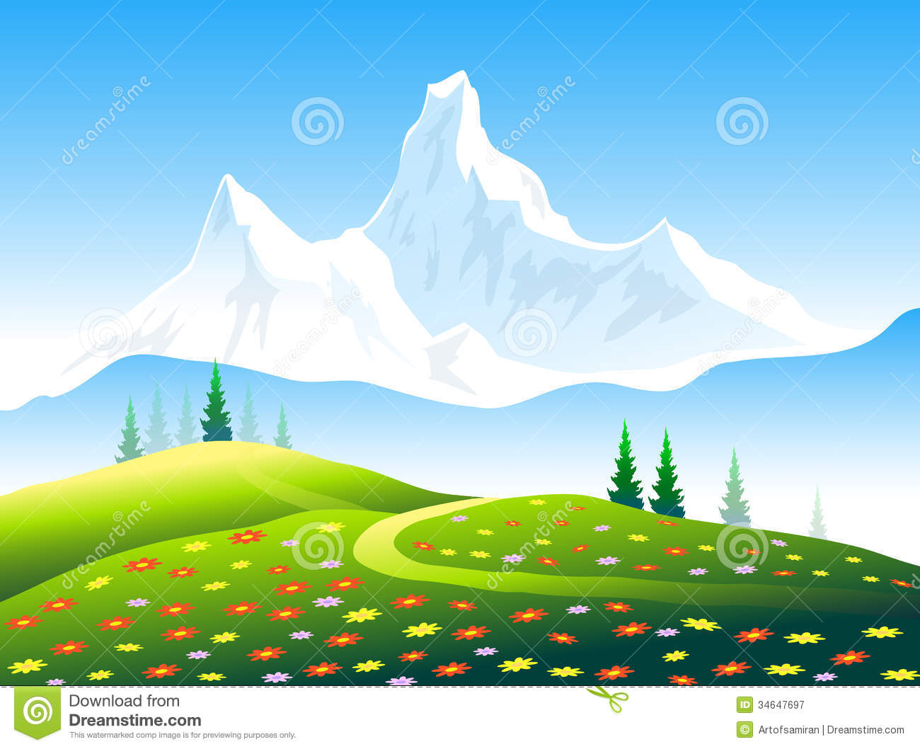 Himalayan mountains clipart.