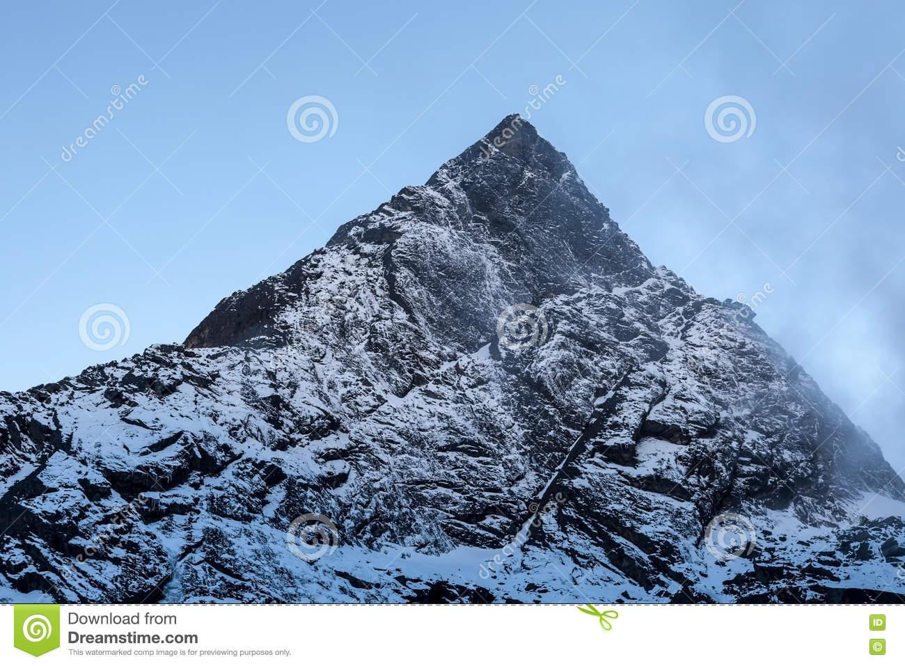 Rocky Mountain Peak Near Cho La Pass In Sagarmatha National Park.