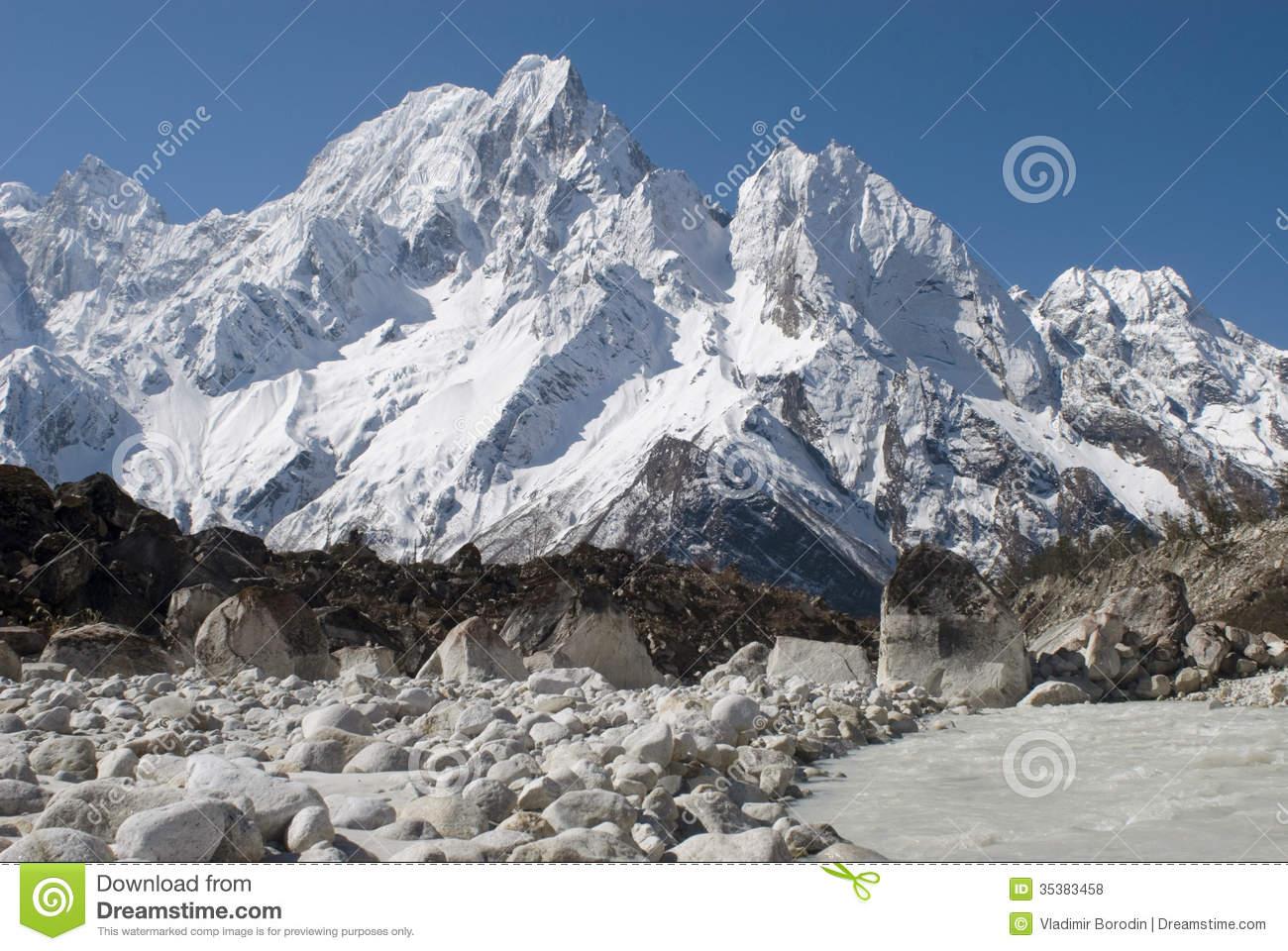 Himalayan Manaslu National Park Royalty Free Stock Photos.