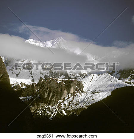 Stock Photography of HIMALAYAN PEAKS.