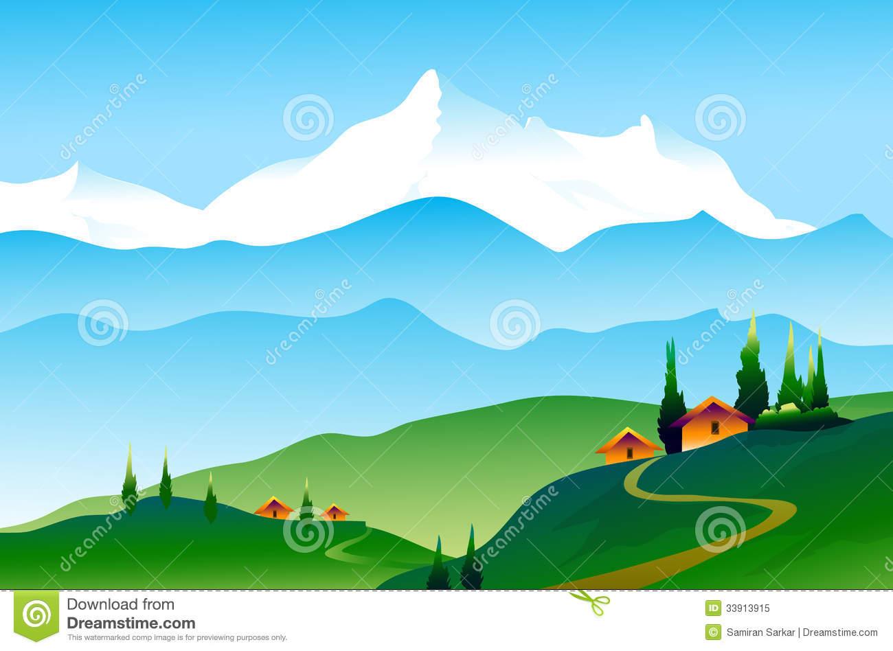 Landscape Of Himalayas Royalty Free Stock Photo.