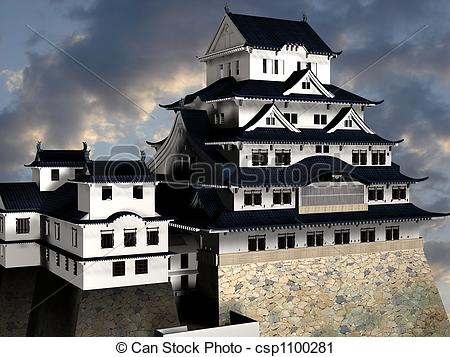 Clipart of Himeji Castle.