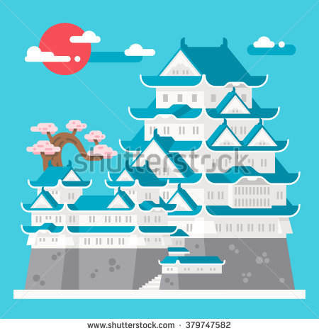 Himeji Castle Stock Vectors, Images & Vector Art.