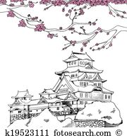 Himeji castle Clip Art EPS Images. 19 himeji castle clipart vector.