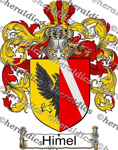 Himel Coat of Arms Himel Family Crest Instant Download.