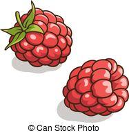 Vector Clip Art of Raspberries..