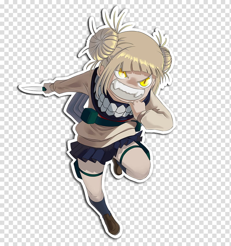 Himiko Toga Fanart Sticker transparent background PNG.