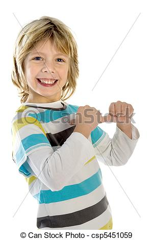 Kid pointing to himself clipart.
