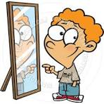 Kid pointing at himself clipart.