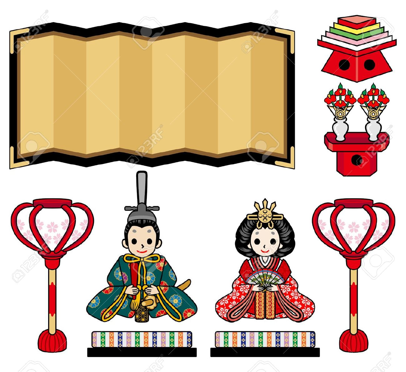Illustration Of Hina Doll Royalty Free Cliparts, Vectors, And.