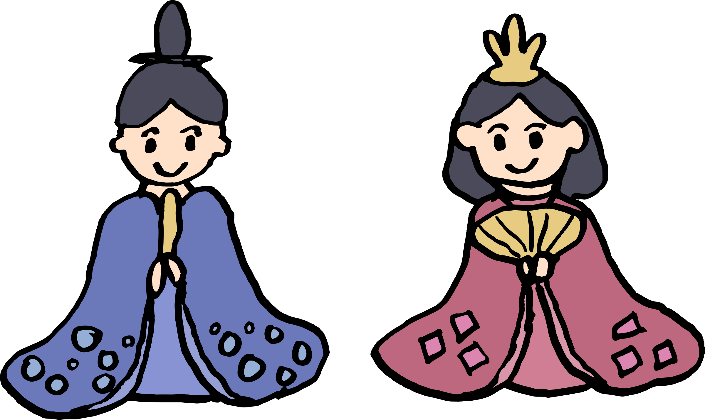 Hina Dolls Vector Clipart.