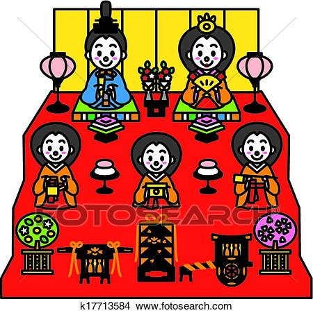 Hinamatsuri, the Dolls' Festival of Clipart.